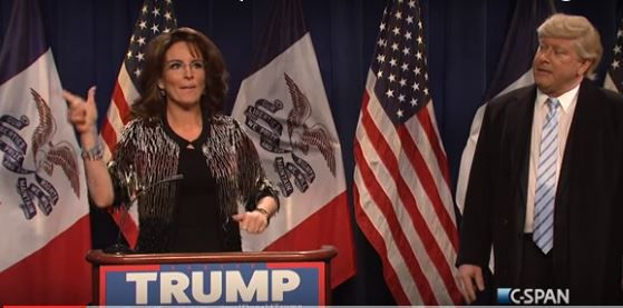 Tina Fey als Sarah Palin in Saturday Night Live.