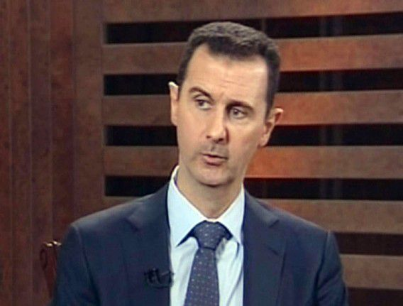 """A grab from Addounia pro-regime Syrian TV on August 29, 2012 shows Syrian President Bashar al-Assad speaking during an exerpt of an interview in Damascus to be broadcast later in the day. Syria needs more time to """"win the battle"""" raging across the country, Assad said in the television interview. AFP PHOTO/HO/ADDOUNIA TV == RESTRICTED TO EDITORIAL USE - MANDATORY CREDIT """"AFP PHOTO / HO / ADDOUNIA TV"""" NO MARKETING NO ADVERTISING CAMPAIGNS - DISTRIBUTED AS A SERVICE TO CLIENTS =="""