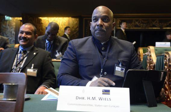 De vermoorde Helmin Wiels in de Eerste Kamer voor het Koninkrijksoverleg, in maart dit jaar.