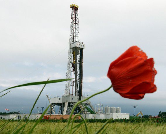 Schaliegaswinning in Ksiezomierz in zuidoost Polen.