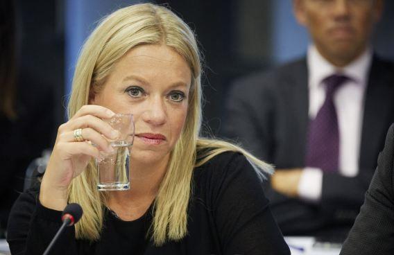 Minister van Defensie, Jeanine Hennis-Plasschaert.