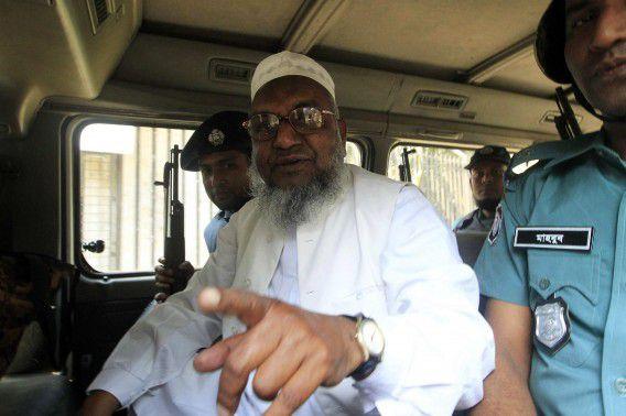 Abdul Qader Mollah na zijn veroordeling tot levenslang in februari