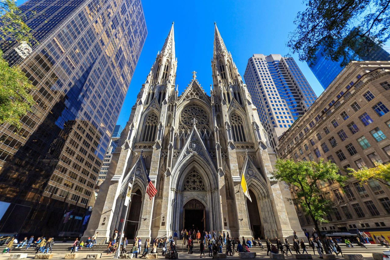 De Saint Patrick's cathedral in New York.