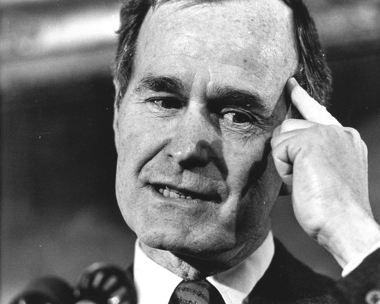 Portret van George H.W. Bush in 1986.