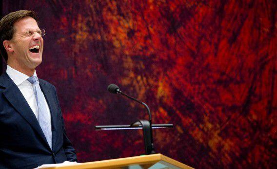 DEN HAAG - VVD-leider Mark Rutte tijdens het debat over de kabinetsformatie en het regeerakkoord. ANP ROBIN UTRECHT