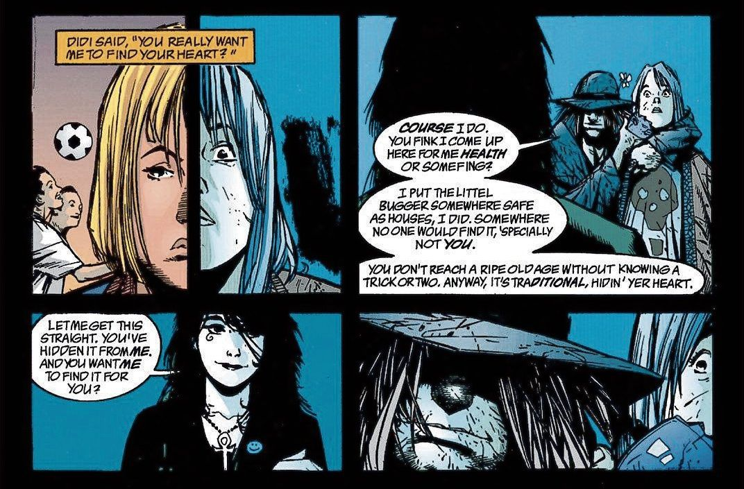 Afbeeldingen uit de strip Death: The high cost of living van het Amerikaanse Vertigo Comics.