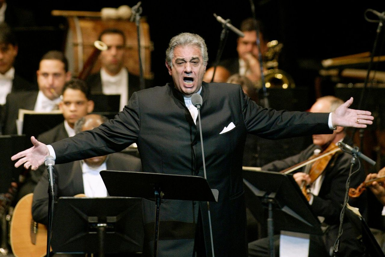 Plácido Domingo tijdens een optreden in het National Theater in de Dominicaanse Republiek in april 2004.