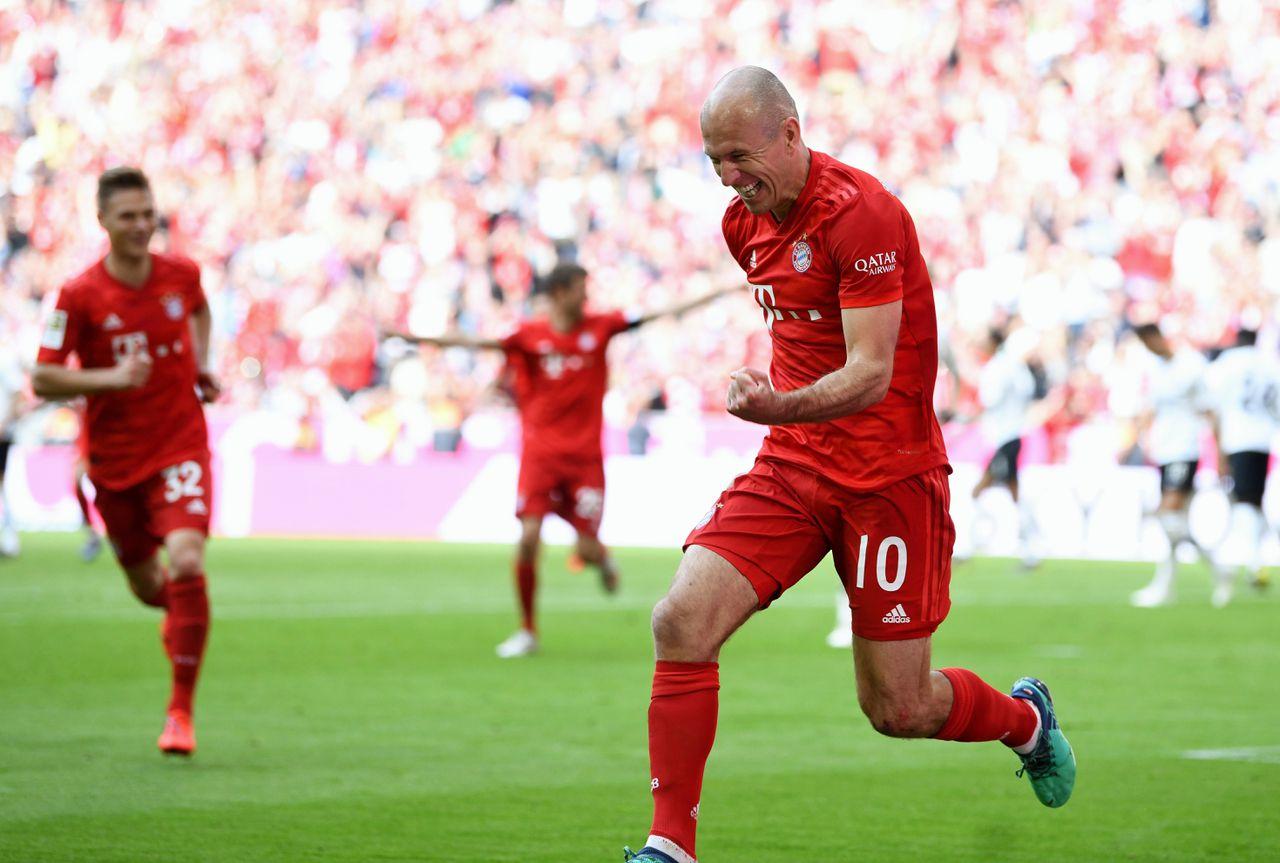 Arjen Robben neemt afscheid van Bayern München met achtste