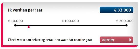 De Begrotingswijzer die op basis van uw jaarsalaris uitrekent wat u bijdraagt welke potjes van de Nederlandse staat.