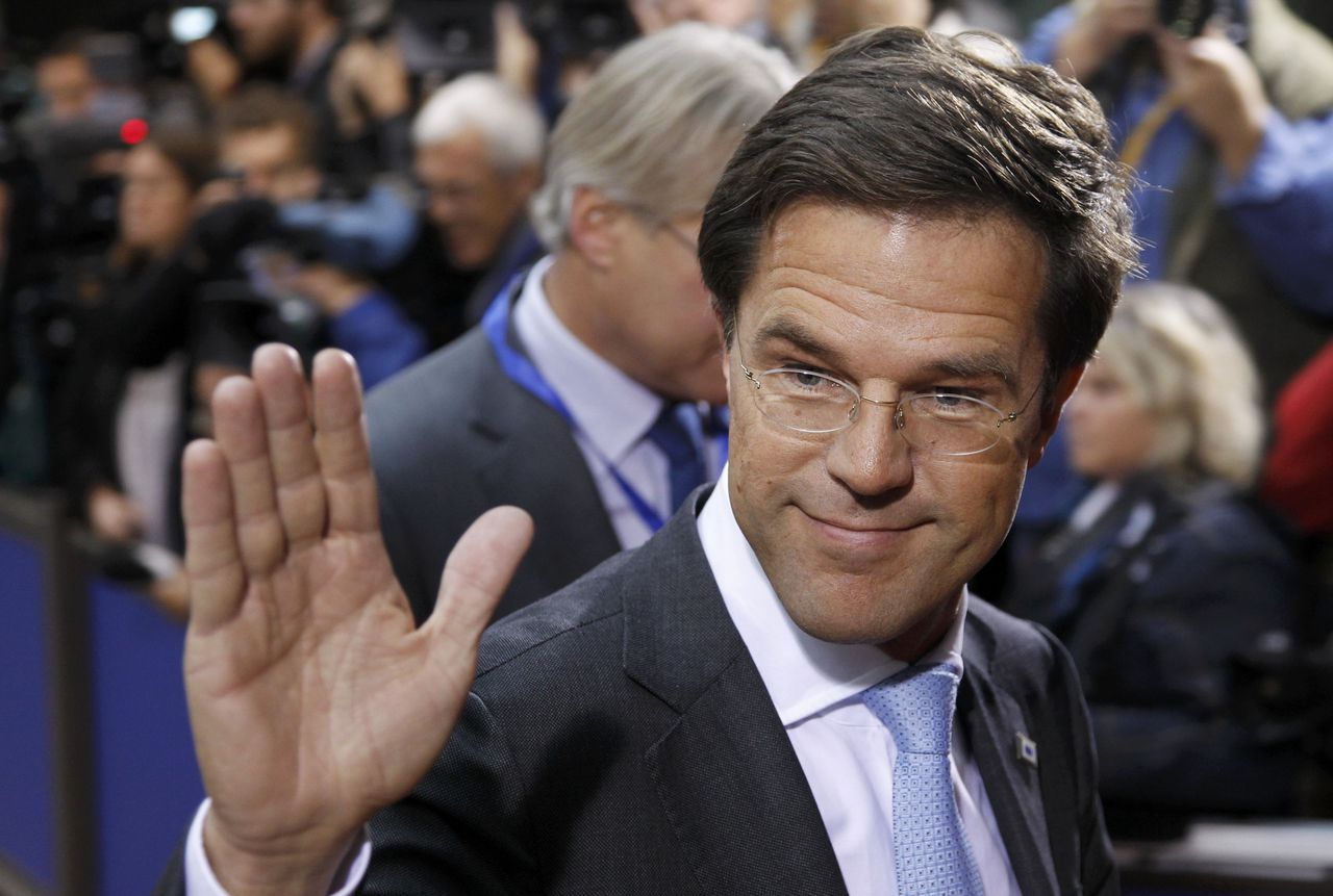 Netherlands' Prime Minister Rutte arrives at an European Union summit in Brussels, October 26, 2011. The European Union's leaders are meeting to work out a comprehensive deal to resolve the euro zone debt crisis and find a way to give the region's bailout fund greater firepower. REUTERS/Thierry Roge (BELGIUM - Tags: POLITICS BUSINESS)