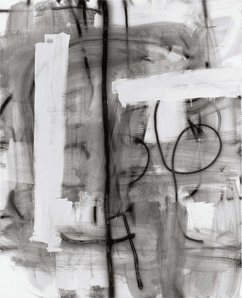 Untitled, 2010. Emaille op linnen, 244 × 198 cm.