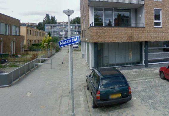 De Ajaxstraat in Rotterdam.