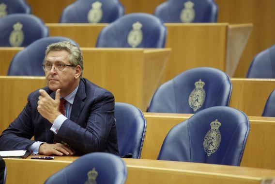 50Plus-leider Henk Krol in de Tweede Kamer.