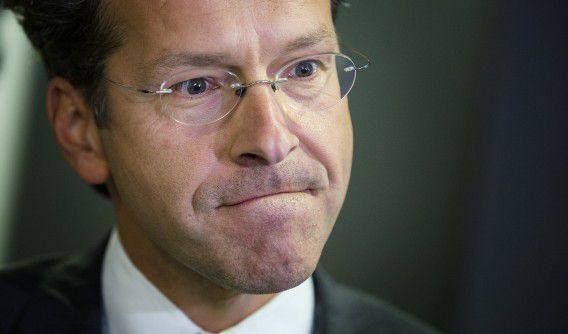 DEN HAAG - Minister Jeroen Dijsselbloem van Financien na afloop van het begrotingsoverleg bij het Ministerie van Financien. ANP BART MAAT