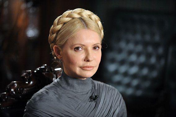 Timosjenko poseert in 2011 in haar huis in Kiev.