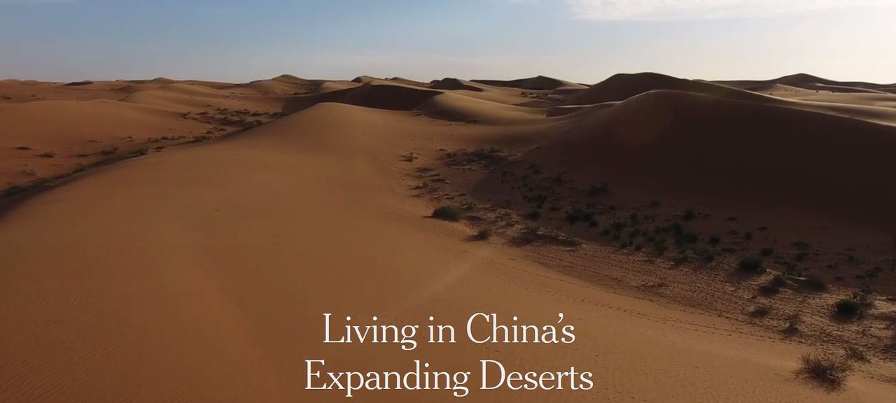 "Openingsfragment ""Living in China's Expanding Deserts""."