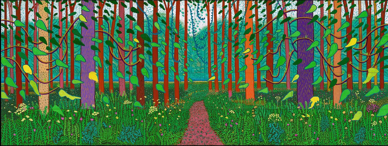 David Hockney, The Arrival of Spring in Woldgate, East Yorkshire in 2011