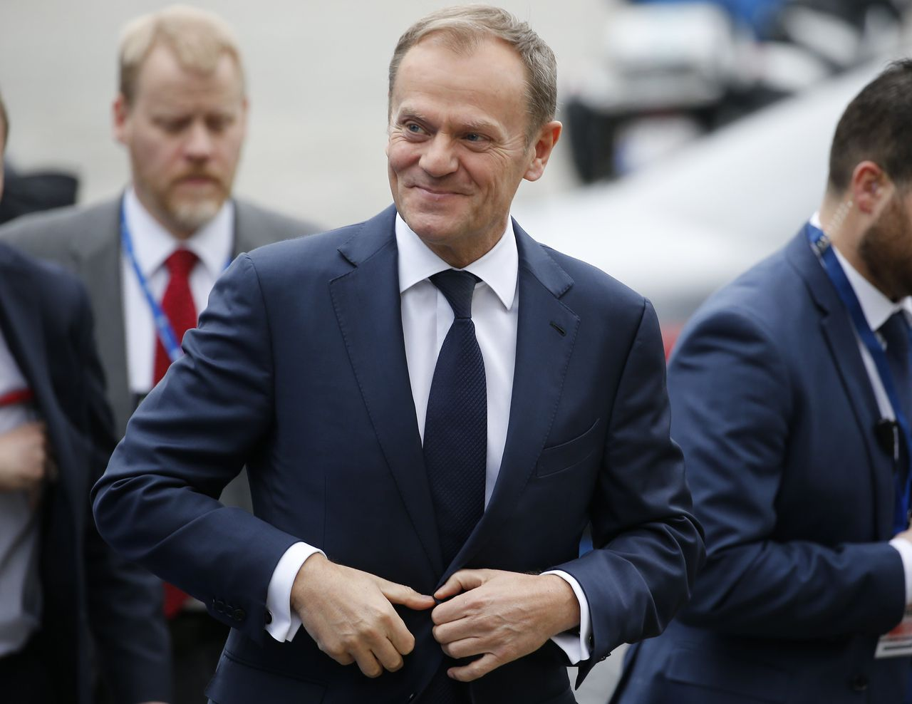 Donald Tusk bij de EU-top in Brussel.