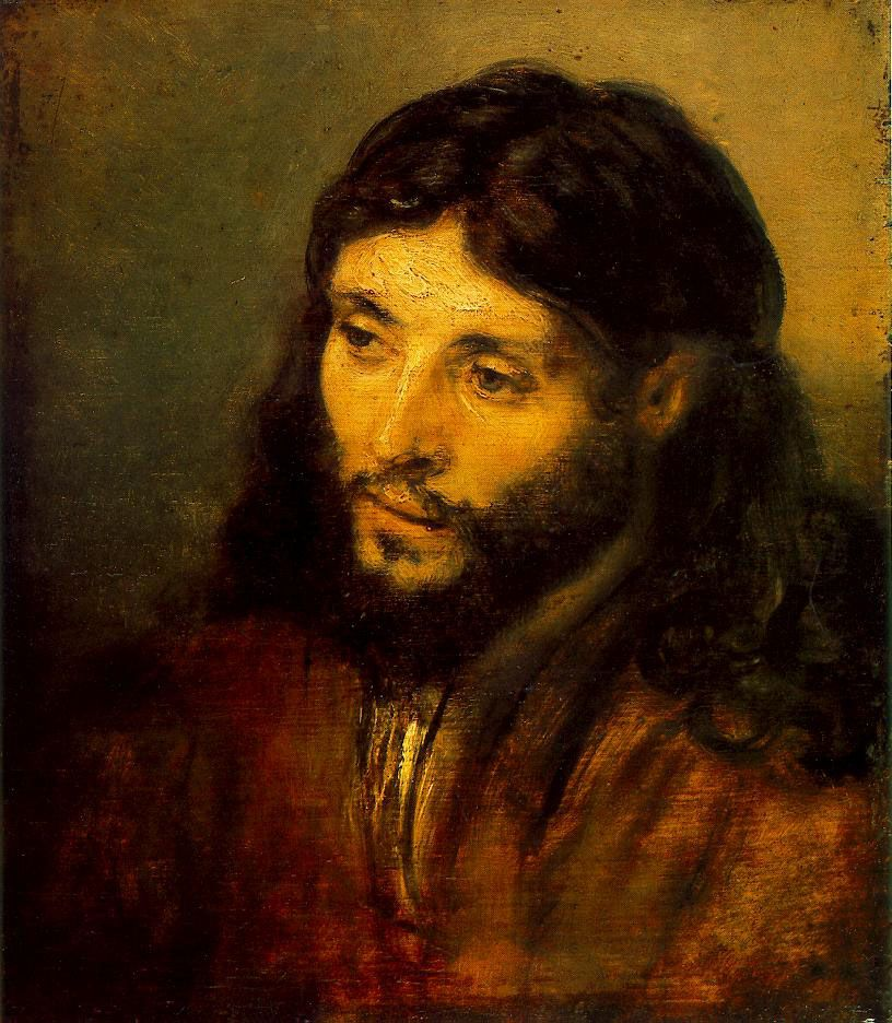 17 Rembrandt Young Jew as Christ c. 1656 Oil on wood, 25 x 21,5 cm Staatliche Museen, Berlin The sitter of the painting is a young Jew evicted from Spain and settled in Amsterdam in the neighbourhood of Rembrandt. The painting is in mid-way between a realistic portrait and the generalization of a Jewish type. ....Web Gallery Of Art