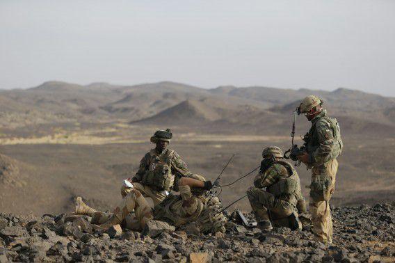 Franse soldaten in het noorden van Mali.