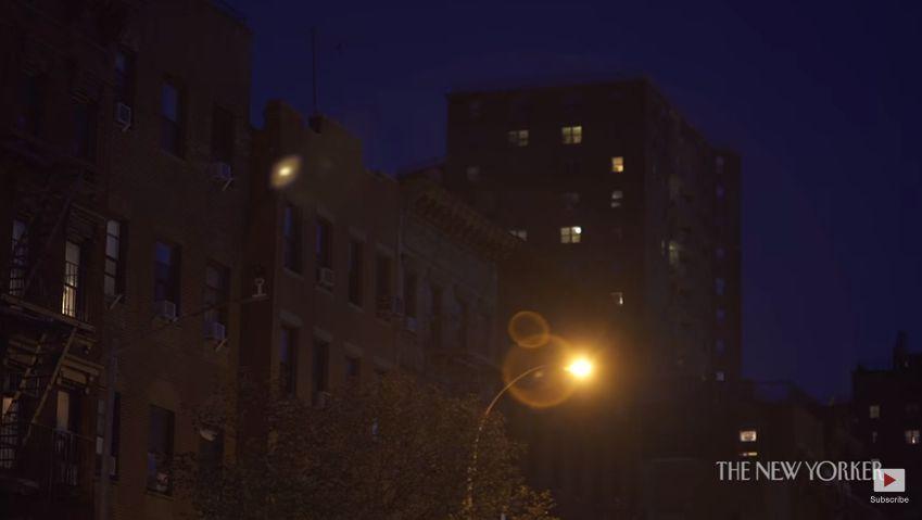 De stad New York kent veel lichte plekken, maar ook donkere, aldus Delfausse.