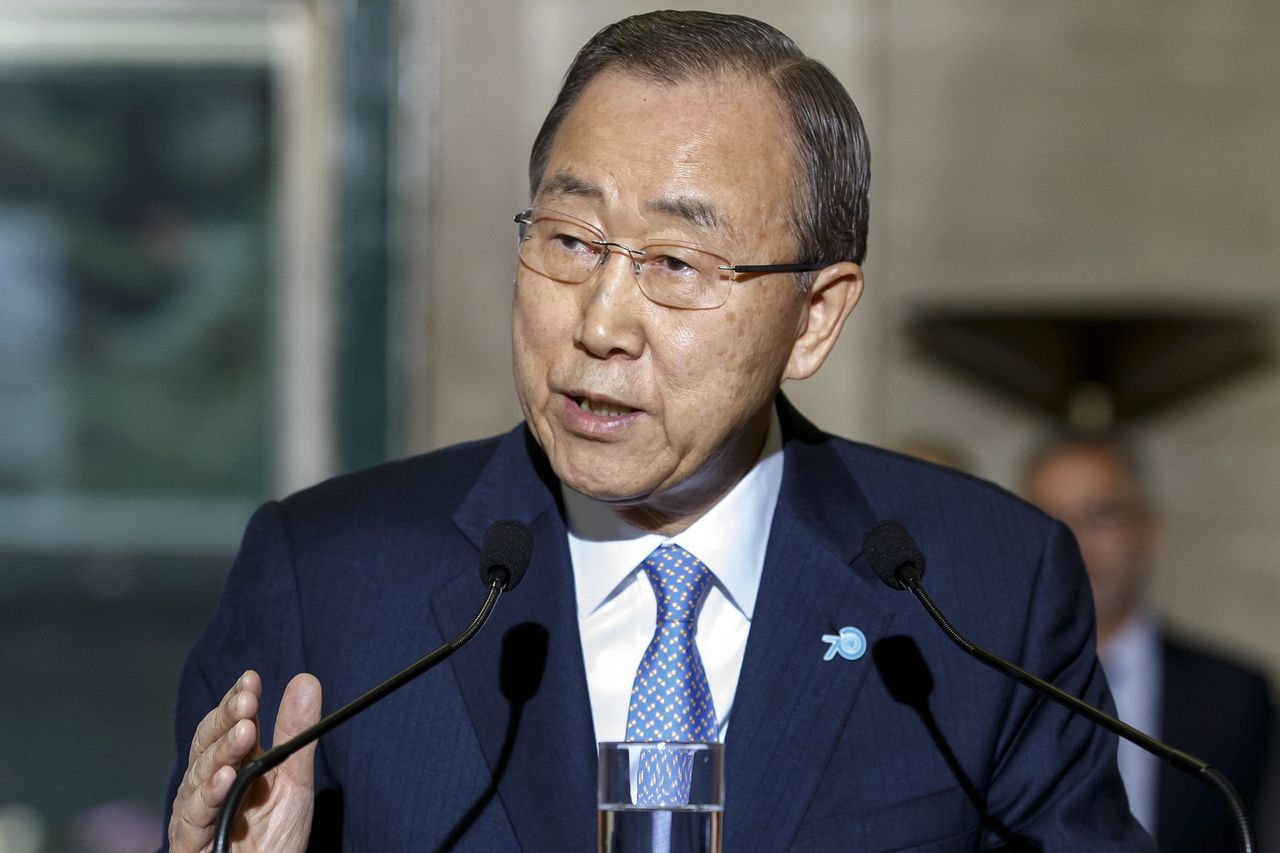 Secretaris-generaal van de Verenigde Naties Ban Ki-moon.