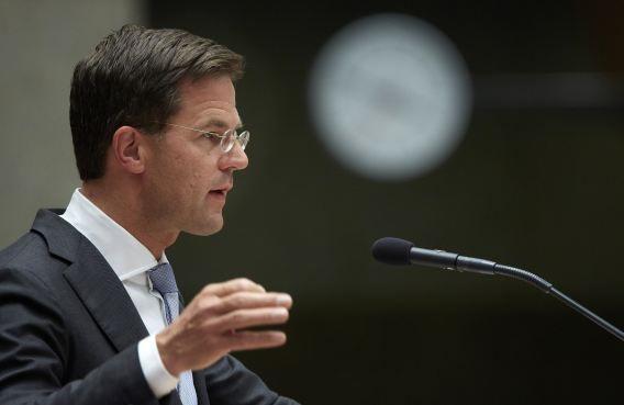 Premier Rutte vandaag tijdens het verantwoordingsdebat in de Tweede Kamer.