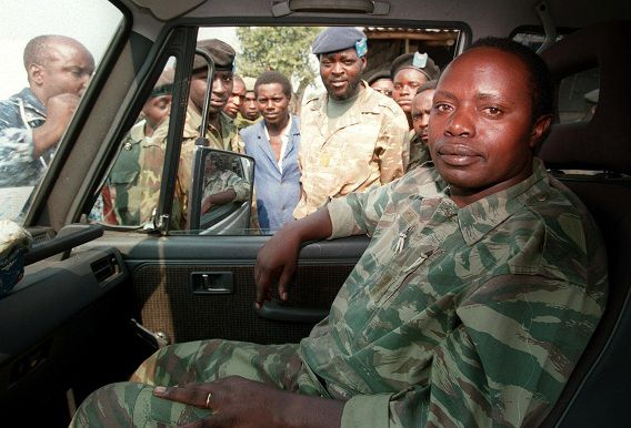 (FILES) - This file photo taken on July 27, 1994 shows Rwandan former army chief General Augustin Bizimungu near Goma. The UN court for Rwanda handed a 30-year prison sentence on May 17, 2011 to former army chief Augustin Bizimungu for his role in the country's 1994 genocide. AFP PHOTO/VINCENT AMALVY