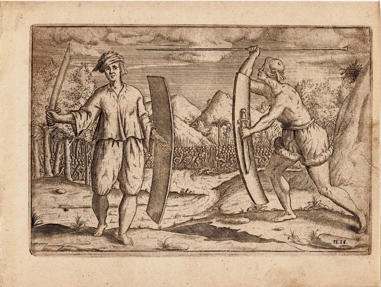 Krijgers van de Banda-eilanden, 1599.