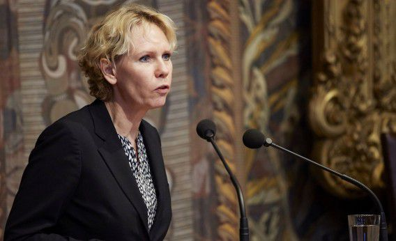PvdA-Eerste Kamerlid Marleen Barth tijdens de Algemene Politieke Beschouwingen in de Eerste Kamer vorig jaar.
