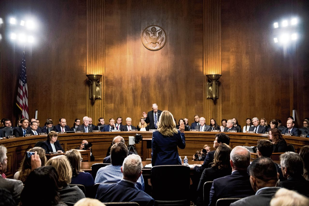 Christine Blasey Ford getuigt voor de Senaat in de zaak-Kavanaugh, 27 september 2018