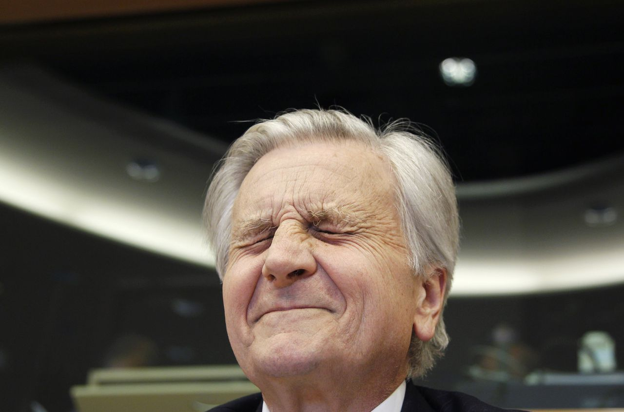 RNPS IMAGES OF THE YEAR 2010 - European Central Bank Chairman Jean-Claude Trichet appears before the Committee on Economic and Monetary Affairs of the European Parliament in Brussels, June 21, 2010. REUTERS/Thierry Roge (BELGIUM - Tags: BUSINESS IMAGES OF THE DAY)
