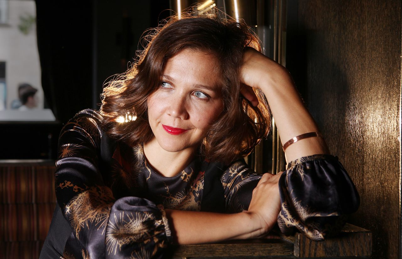 Actress Maggie Gyllenhaal poses for a portrait during the 36th Toronto International Film Festival on Thursday, Sept. 15 in Toronto, Canada. (AP Photo/Carlo Allegri)