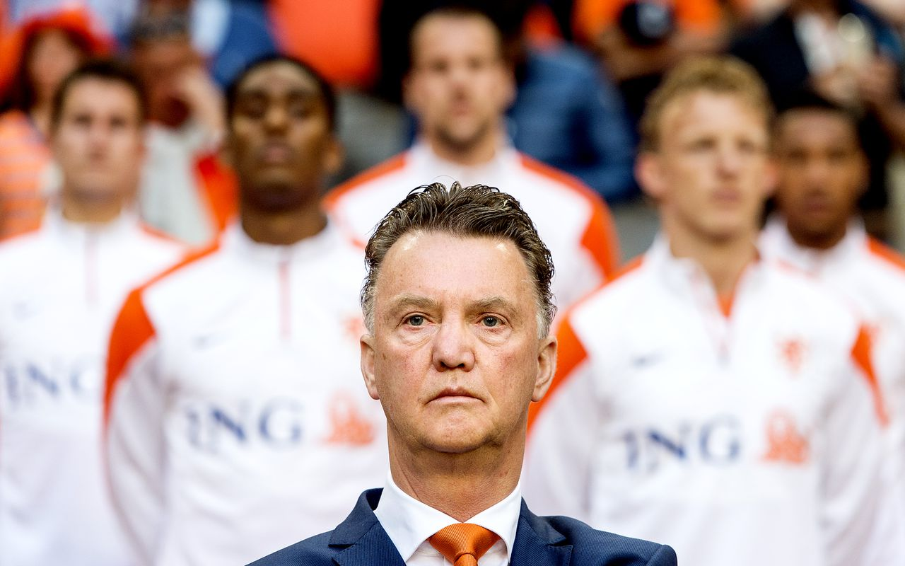 Holland manager Louis van Gaal, joining Manchester United after the World Cup.