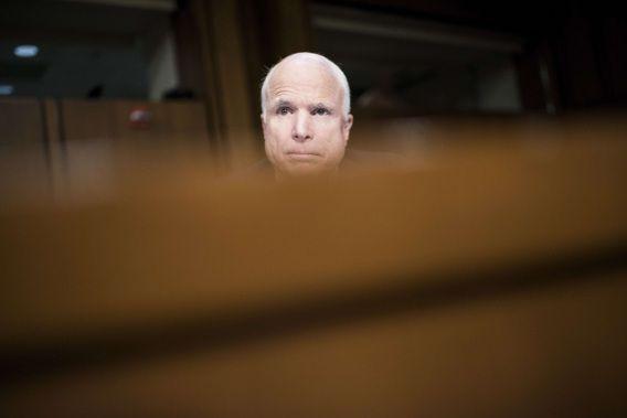 Senator John McCain tijdens de senaatszitting op 3 september 2013.