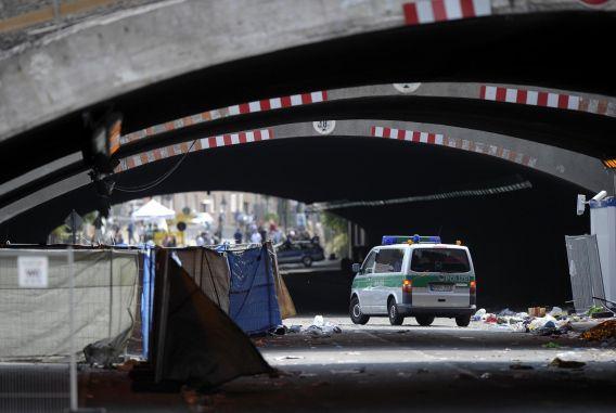 De tunnel waar in 2010 na afloop van de Love Parade veel mensen om het leven kwamen door verdrukking.