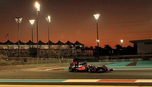 Caption: McLaren Formula One driver Lewis Hamilton of Britain drives during the Abu Dhabi F1 Grand Prix at Yas Marina circuit in Abu Dhabi November 13, 2011. REUTERS/Ahmed Jadallah (UNITED ARAB EMIRATES - Tags: SPORT MOTORSPORT)