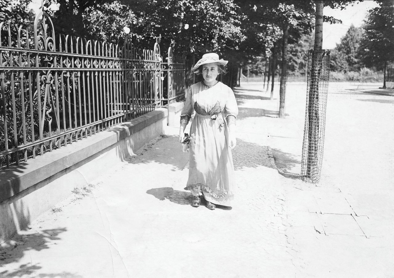 Rosa Luxemburg in Berlijn, 1914.