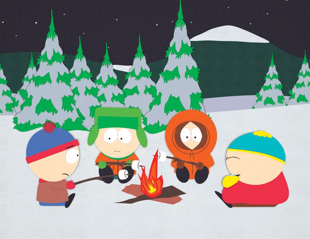 """This animated image released by Comedy Central shows a scene from """"South Park."""" BitTorrent Inc., developer of a popular online file-sharing tool, said Tuesday, Nov. 28, 2006, it has reached licensing deals that will boost the number of movies and TV shows it can offer as part of a video download service launching next year. Added to BitTorrent's lineup are films such as """"Mission: Impossible III,"""" and TV shows such as """"South Park."""" (AP Photo/Comedy Central)"""