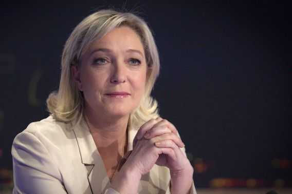 Marine Le Pen is in de race voor het Franse presidentschap. Foto AFP / Joel Saget
