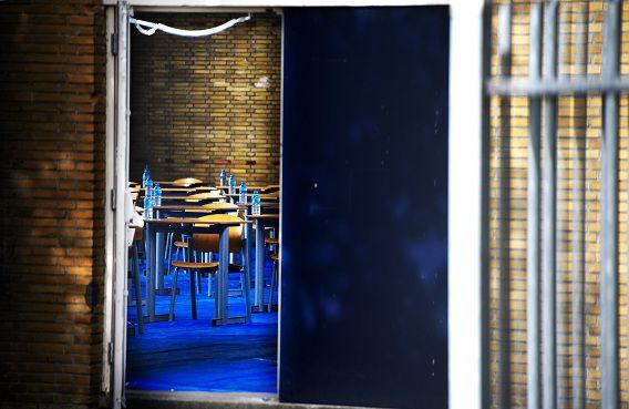\De gymzaal van de Ibn Ghaldounschool in Rotterdam.