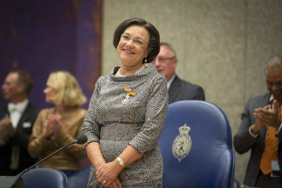 Verbeet bij haar afscheid van de Tweede Kamer in september vorig jaar.
