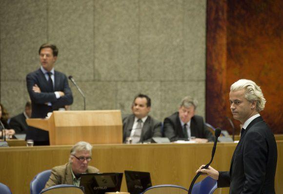 Den Haag : 22 september 2011 Algemene Politieke Beschouwingen. Rutte en Wilders nadat hij tegen de premier heeft gezegd, 'doe is normaal, man'. foto © Roel Rozenburg