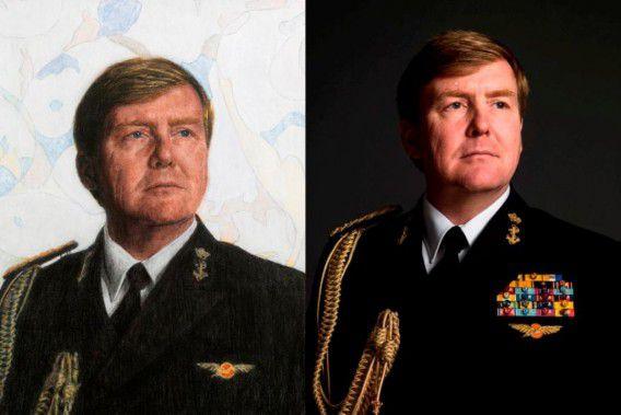 Links het schilderij van Van Dongen, rechts de foto van Koos Breukel.