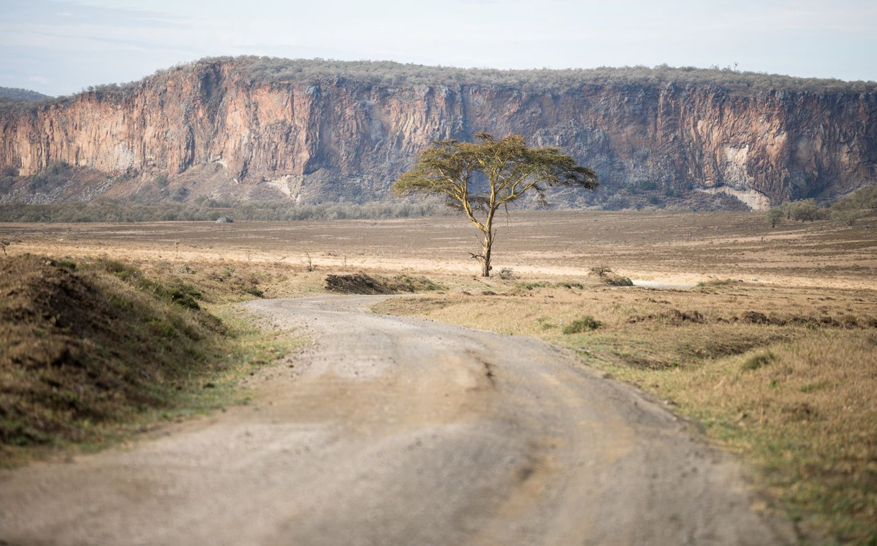 Hell's Gate nationaal park in Kenia.