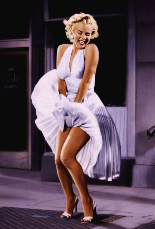 De beroemdste pose van Monroe (uit de film The Seven Year Itch, 1955)