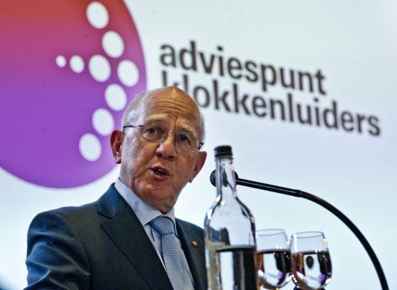 Martin van Pernis, voorzitter commissie Adviespunt Klokkenluiders, aan het woord tijdens de lancering van het adviespunt Klokkenluiders in 2012.