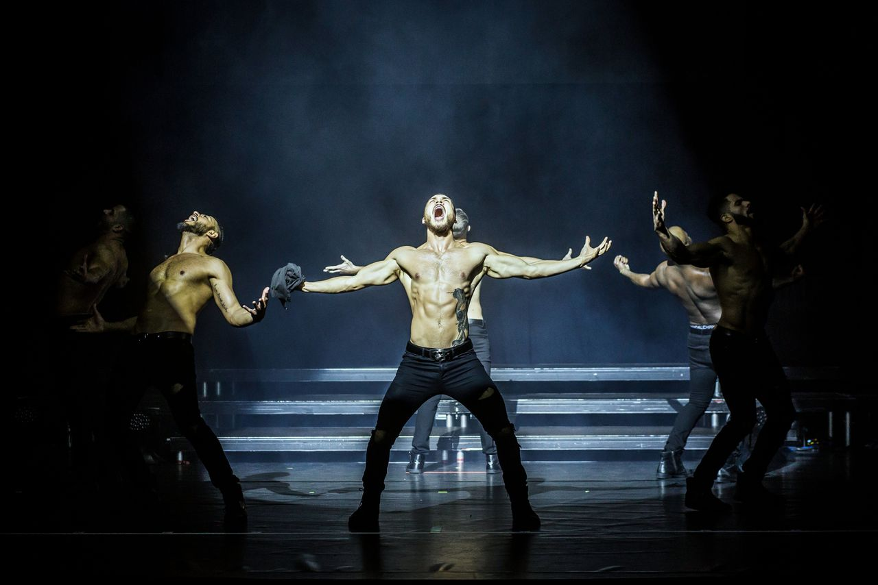 De Chippendales in het Beatrix Theater in Utrecht.