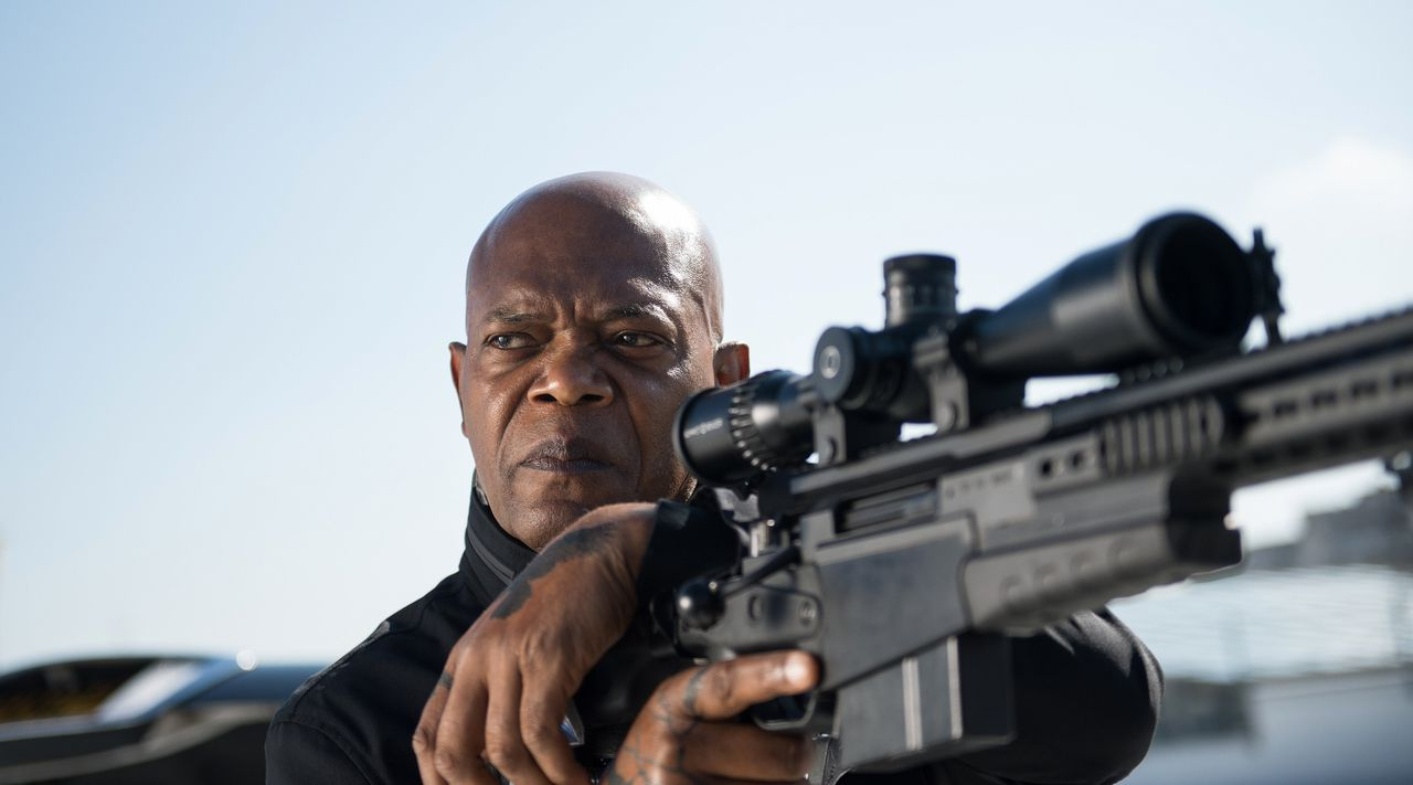 Samuel Jackson speelde in The Hitman's Bodyguard (2017). 20.000 Nederlanders hebben de film volgens Dutch Filmworks illegaal gedownload.