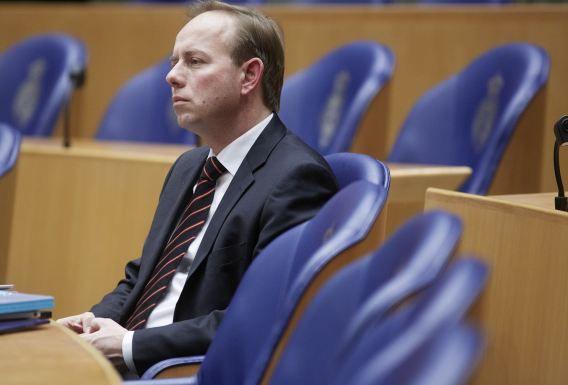 SGP voorman Kees van der Staaij in de Tweede Kamer in Den Haag.